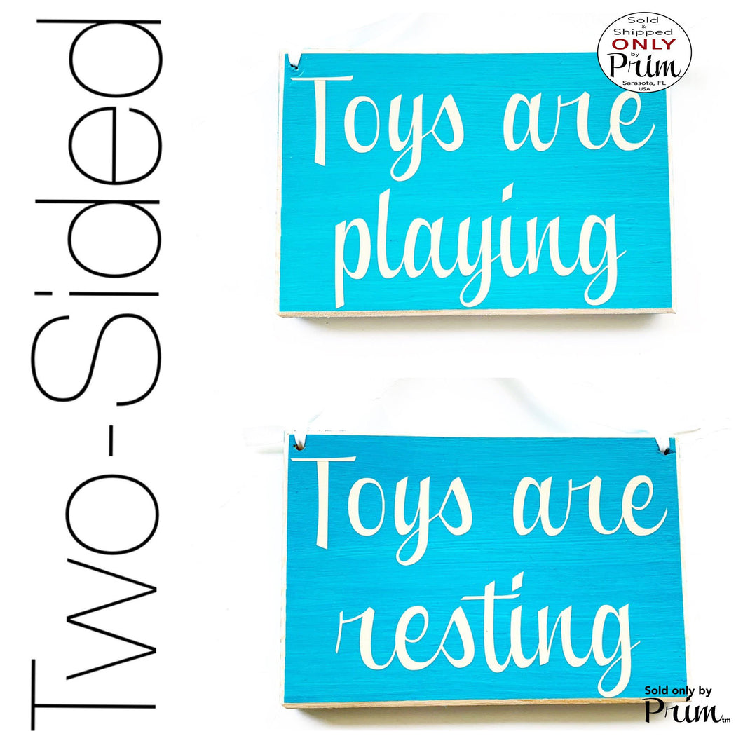 8x6 Toys are Playing Resting Custom Wood Sign Children Kids Play Room Daycare Time Out Playground Toy Story Fun Daughter Son Girls Boys