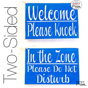 8x6 Welcome Please Knock In The Zone Please Do Not Disturb Custom Wood Sign Welcome In A Meeting Conference Custom Door Plaque