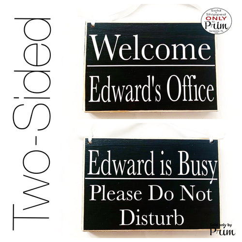 8x6 Custom Name ADD NAME Please Do Not Disturb Welcome Two Sided Custom Wood Sign| Home Office Business In Session Meeting Conference Plaque