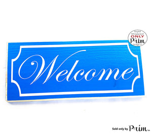 12x6 Welcome Border Custom Wood Sign | Entrance Home Greetings Come On In Home Sweet Home Front Door Porch Entryway Wall Decor Plaque