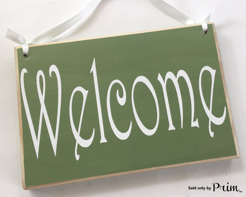 8x6 Welcome Wood Sign (Choose Color) Front Door Greeting Please Remove Your Shoes Custom Wall Door Plaque