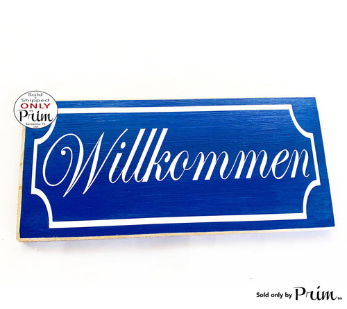 12x6 Willkommen Wood German Welcome Sign
