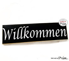 Load image into Gallery viewer, 14x4 Willkommen German Welcome Deutsch Custom Wood Sign Biergarten Oktoberfest Herzlich Germany Decor Wall Door Plaque