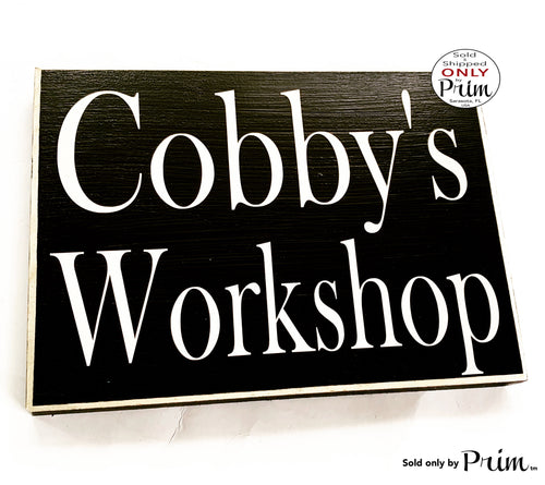10x8 Custom Personalized Name Workshop Wood Sign Dad Father Grandparents Grandchildren Man Cave Space Tool Shop Garage Shed Plaque