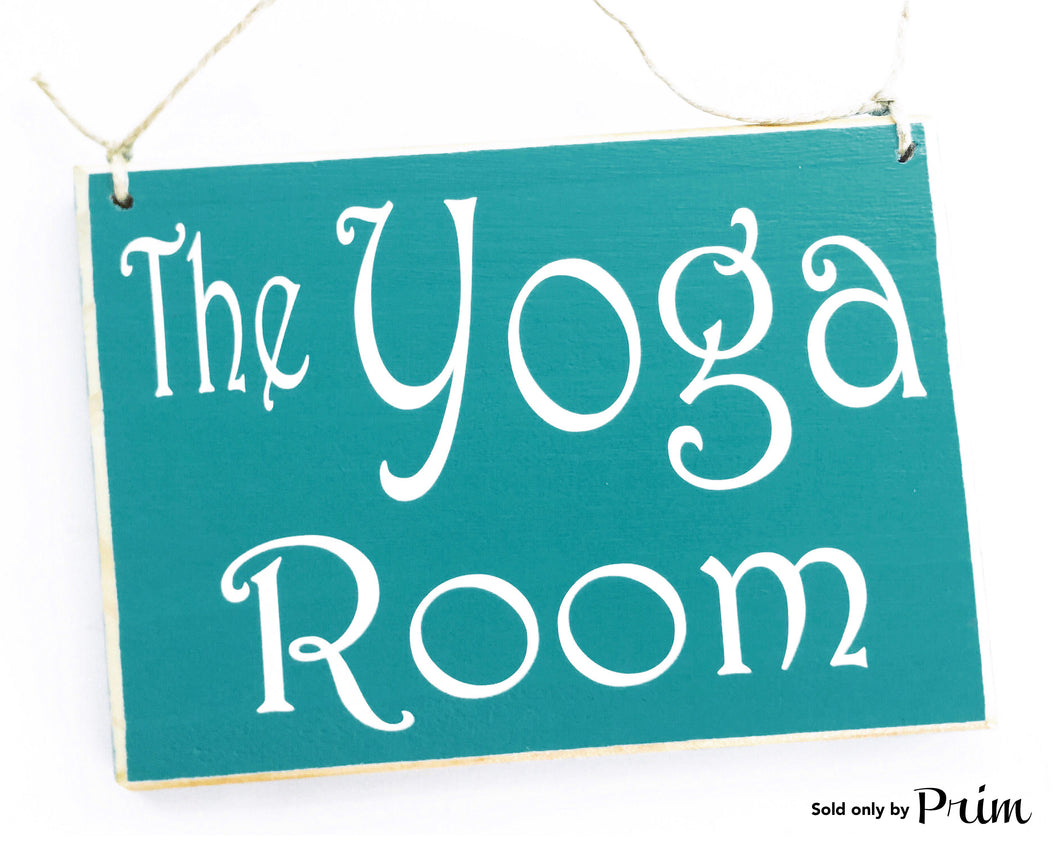 The Yoga Room 8x6 Custom Wood Sign Namaste Relax Meditation Zen Class Spa Business In Progress Plaque