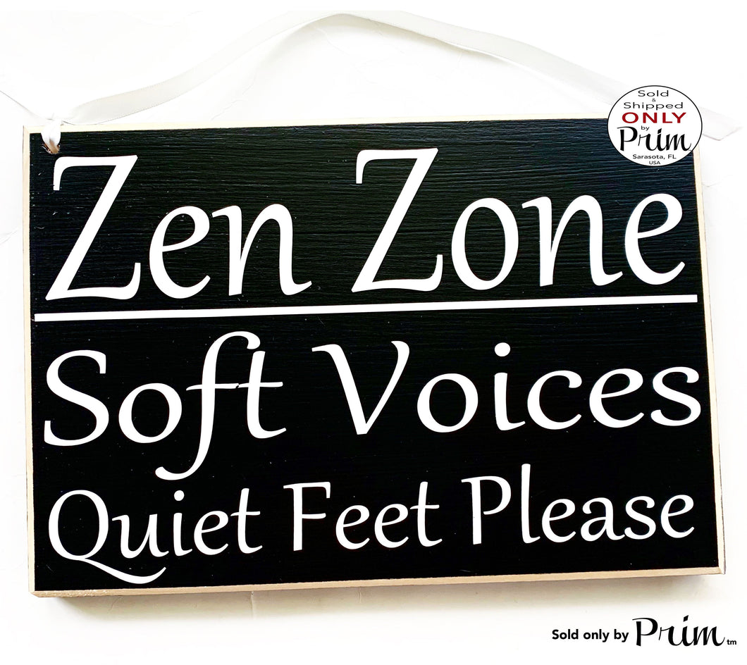 10x8 Zen Zone Soft Voices Quiet Feet Please Custom Wood Sign Transformation In Progress Session Please Do Not Disturb Massage Shh Office