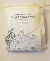 Certified Organic Cotton Set of 4 Produce Bags