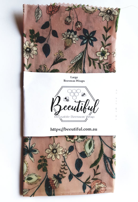 Beeutiful Large Beeswax Wrap - Single