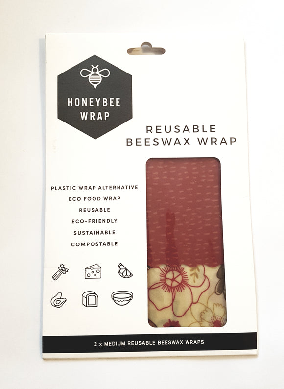 Honeybee wrap - 2 pack medium