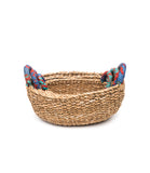 Table or storage baskets with cloth handles (set of 3 in different sizes)