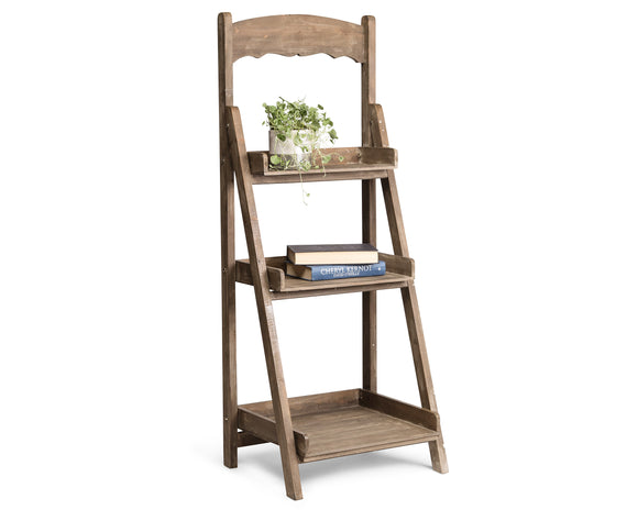 3tier wooden plant shelf - FSC certified wood