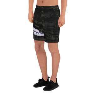 MULTICAM BLACK All-Over Print Men's Athletic Long Shorts
