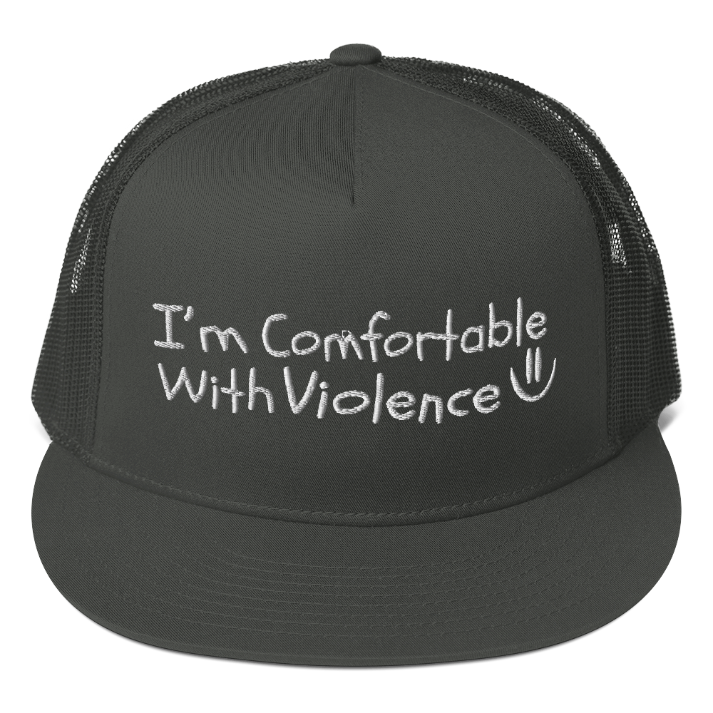 Comfortable With Violence Mesh Back Snapback