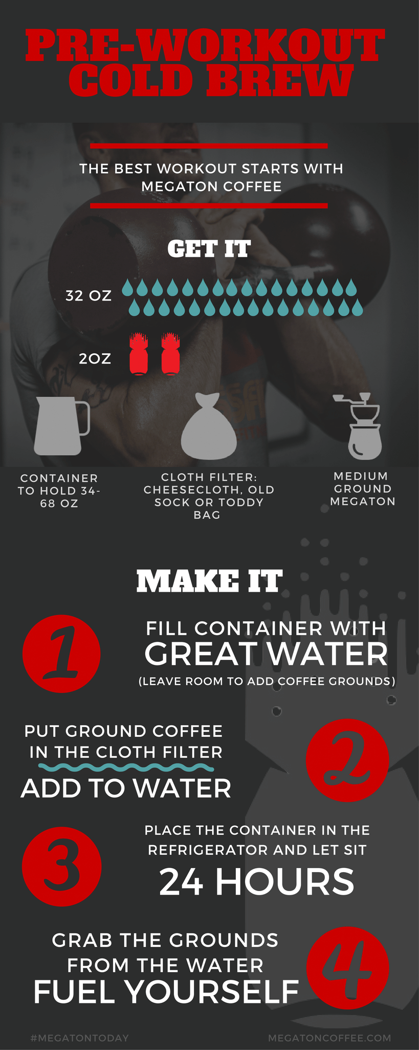 Megaton Coffee_Pre Workout_Cold Brew Guide_High Caffeine
