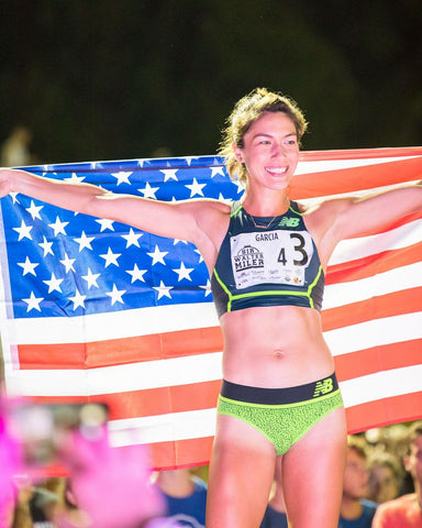 stephanie garcia american flag professional steeplechase natural energy race advice