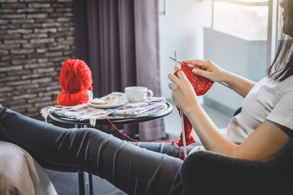 You or someone you love feeling anxious over COVID-19 or self-isolation? How knitting and mindfulness might be the answer