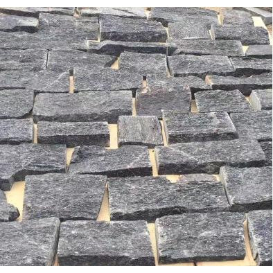 Natural Loose Stone Feature Wall Cladding Strips - Black Quartzite