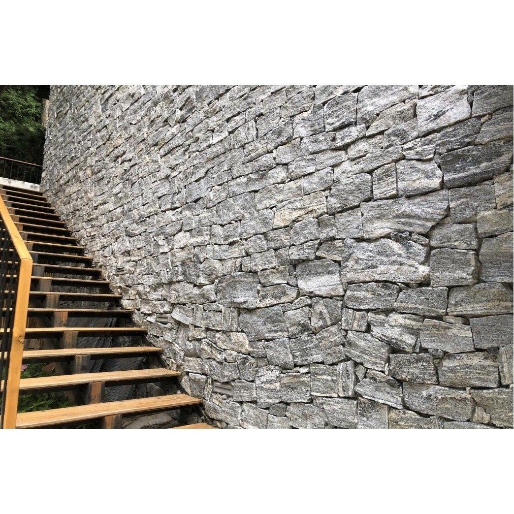 Natural Loose Stone Feature Wall Cladding Strips - Dove Granite