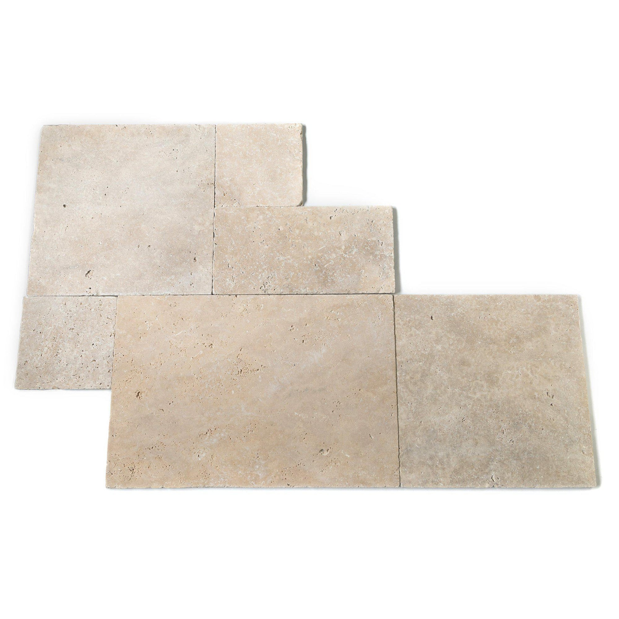 Classic Cream Tumbled French Set Travertine Tile