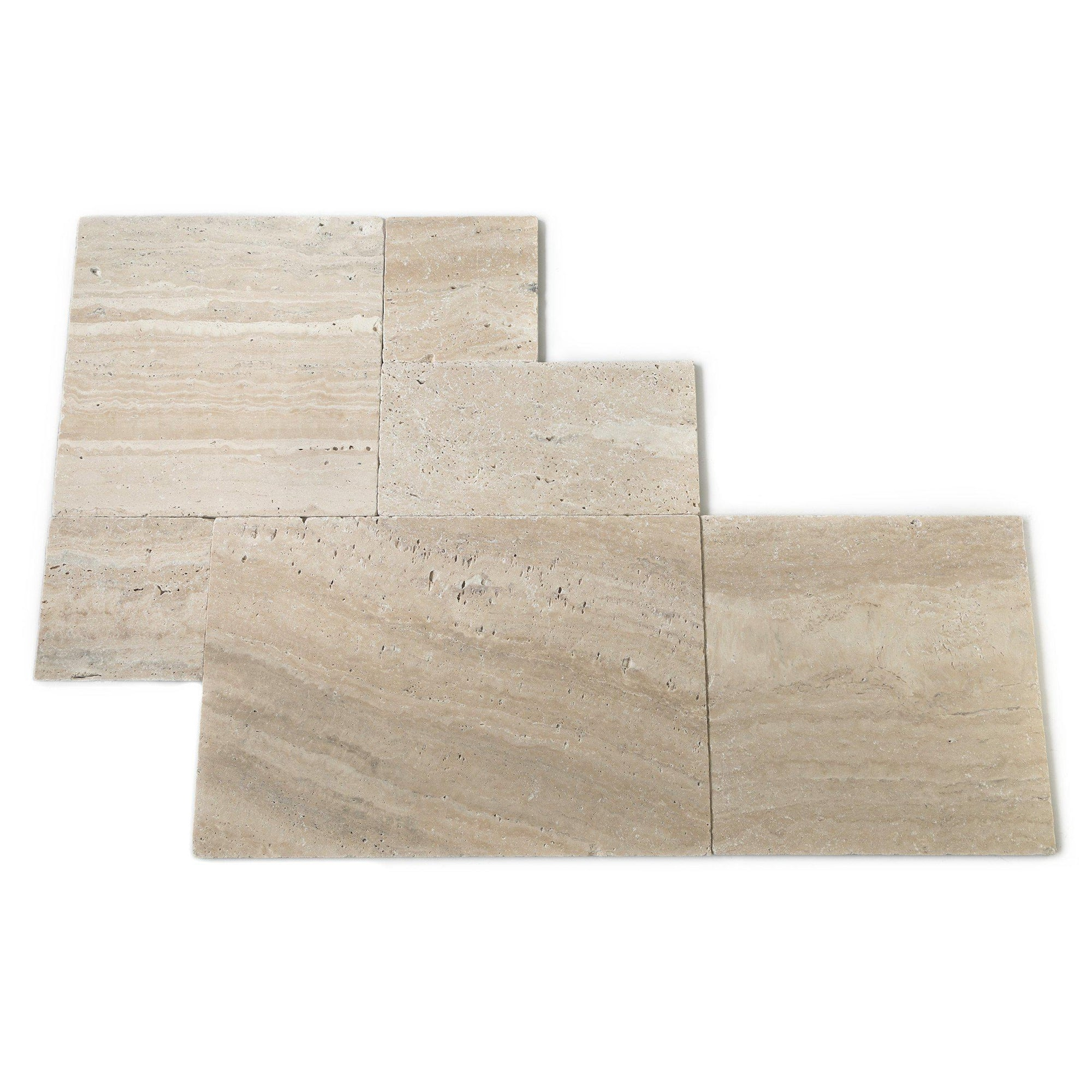 Philadelphia Tumbled French Set Travertine Tile