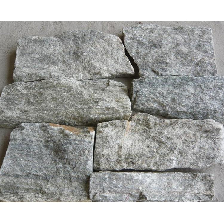 Natural Loose Feature Stone Wall Cladding Strips - Green Quartzite