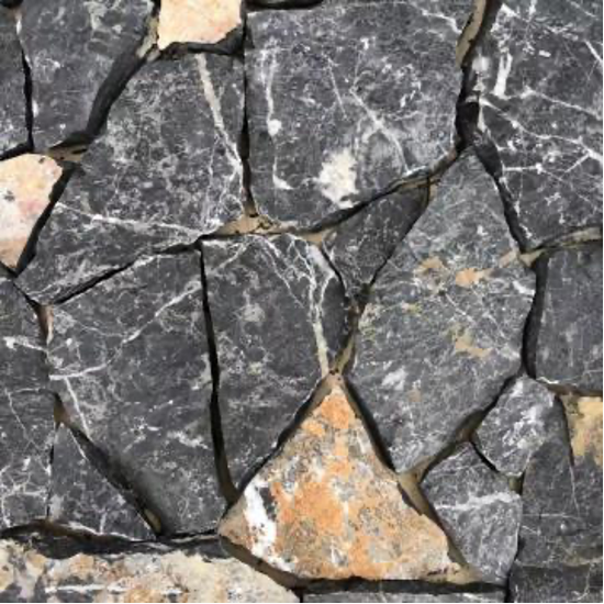 Natural Free Form Loose Stone Feature Wall Cladding - Midnight Limestone