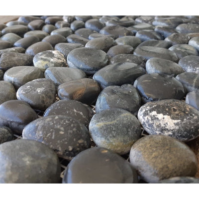 Black Pebble Tiles-Stone Tiles-Stone and Rock