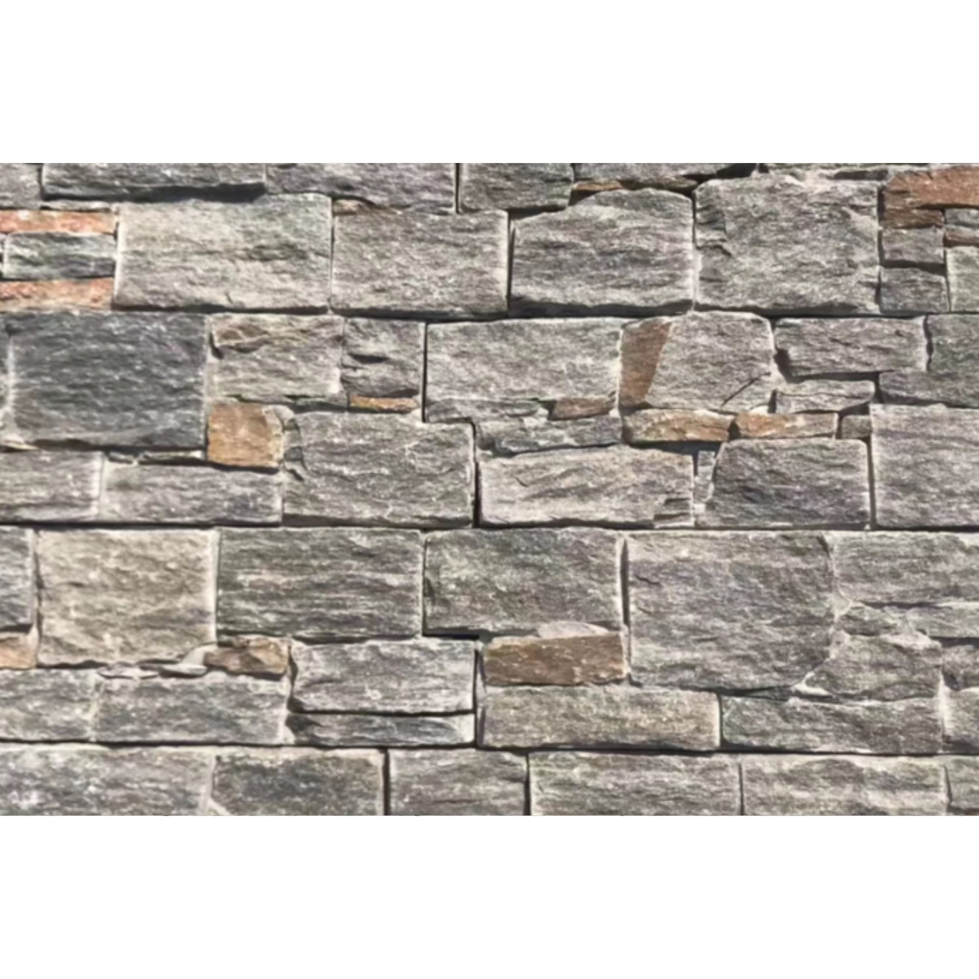 Natural Ledgestone Feature Wall Cladding Panels - Dark Grey Rustic Quartzite