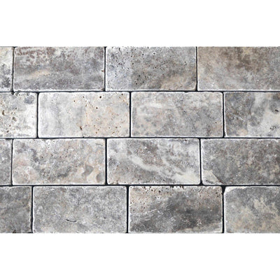 Silver Premium Grade 152 x 76 mm Travertine Tile-Travertine Tiles-Stone and Rock