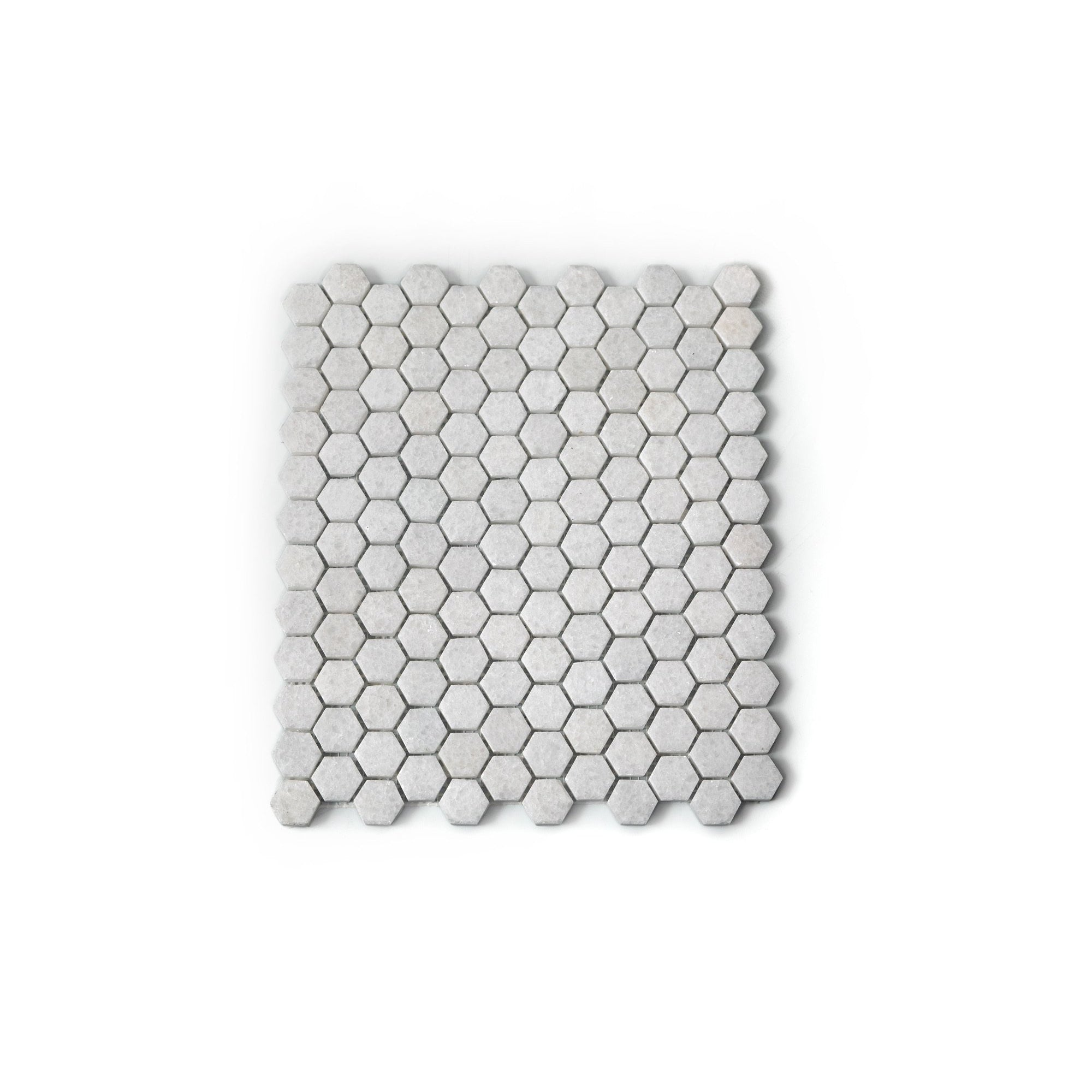 Natural Stone Mosaic Tiles - Crystal White Marble Hexagon (298x298mm)