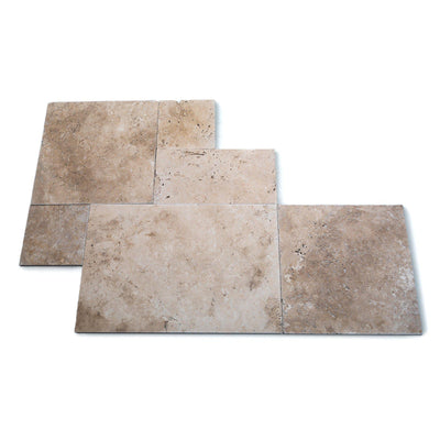 Beige Tumbled French Set Travertine Tile
