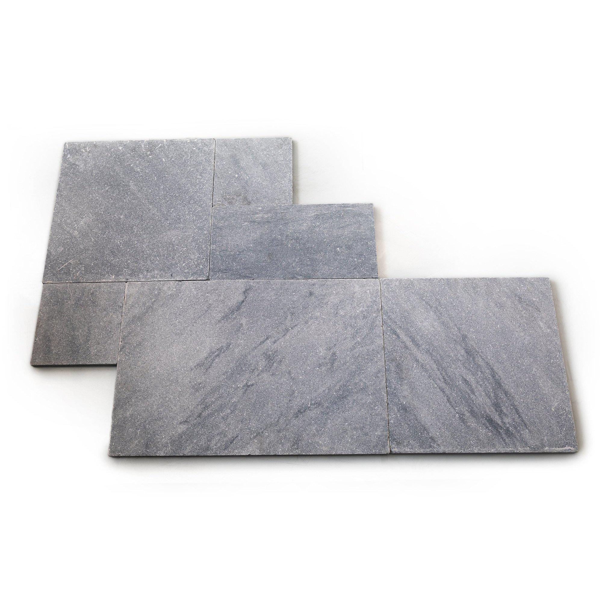 Argento Marble Paver Tiles Sandblasted & Tumbled French 30mm