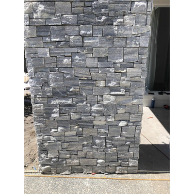 Natural Ledgestone Feature Wall Cladding Panels - Cloudy Grey