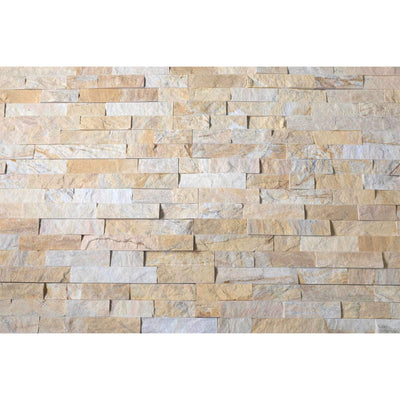 Natural Stacked Stone Feature Wall Cladding Panels - Miami Sands