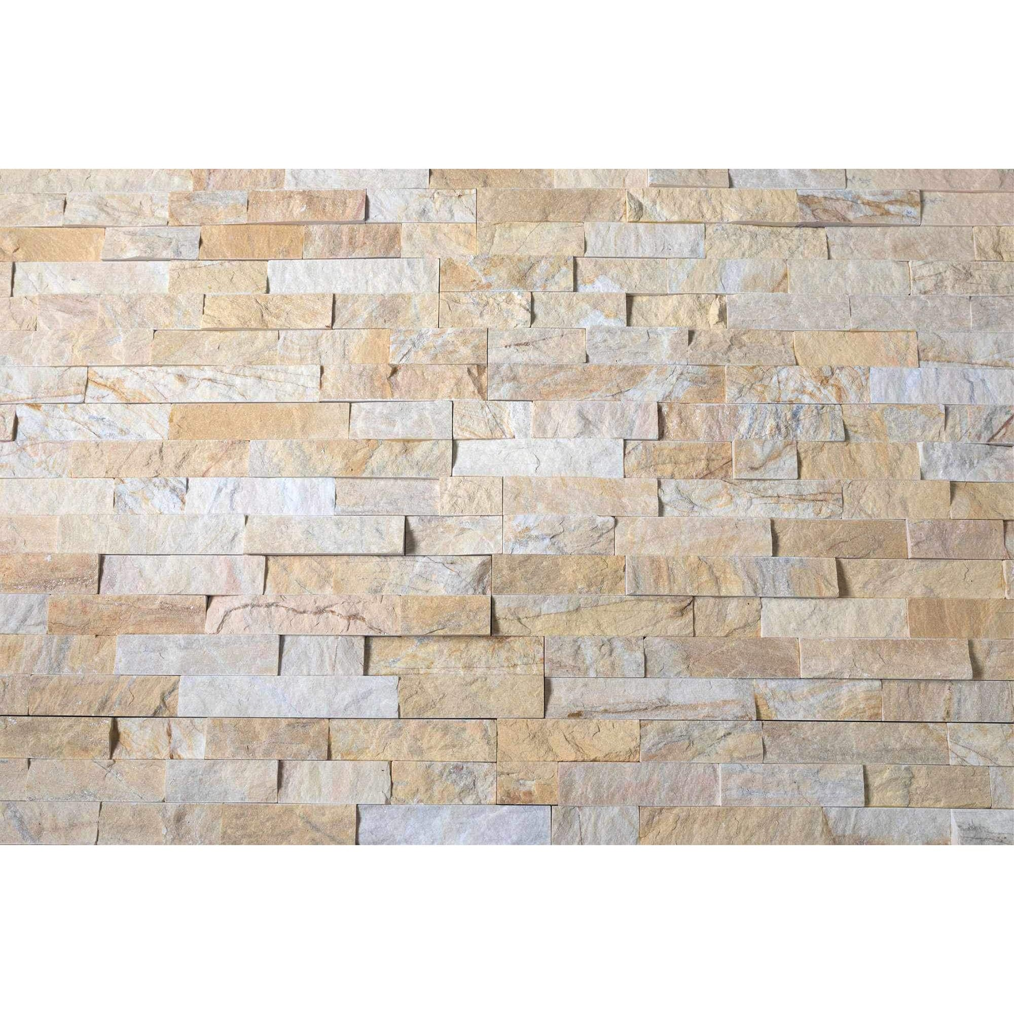 Pre-Order | Stacked Stone Cladding Panels - Miami Sands