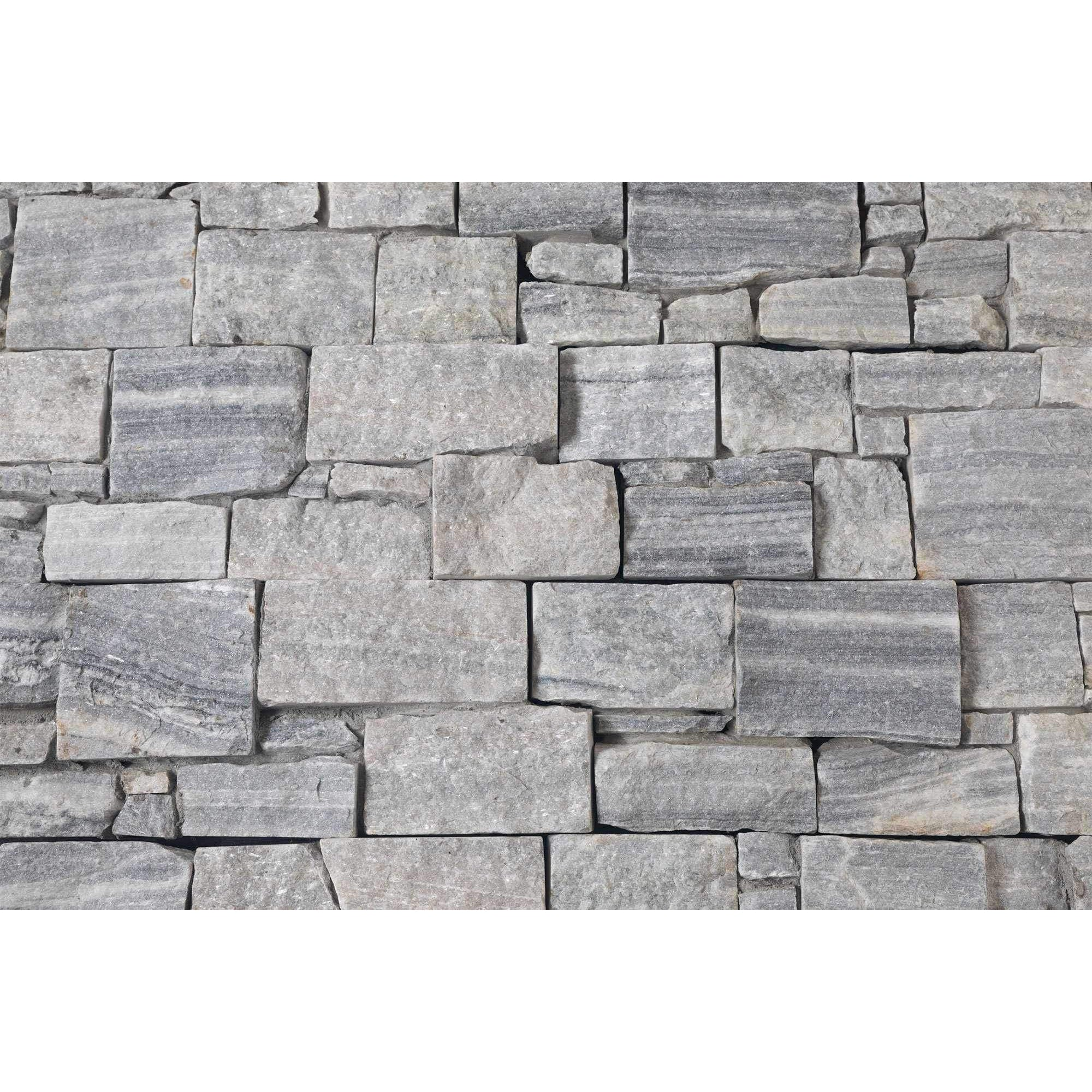 Natural Ledgestone Feature Wall Cladding Panels Cloudy Grey Stone And Rock