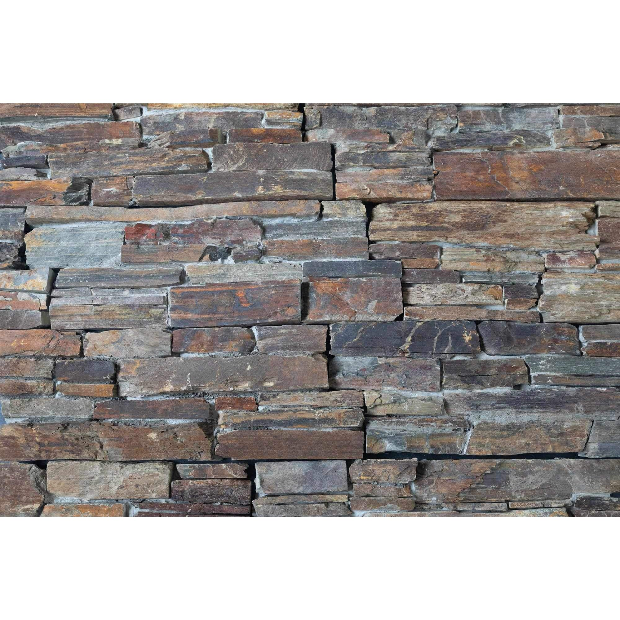 Natural Ledgestone Feature Wall Cladding Panels - Slate