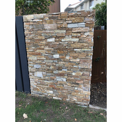 Natural Ledgestone Feature Wall Cladding Panels - Urban Brown-Wall Cladding-Stone and Rock