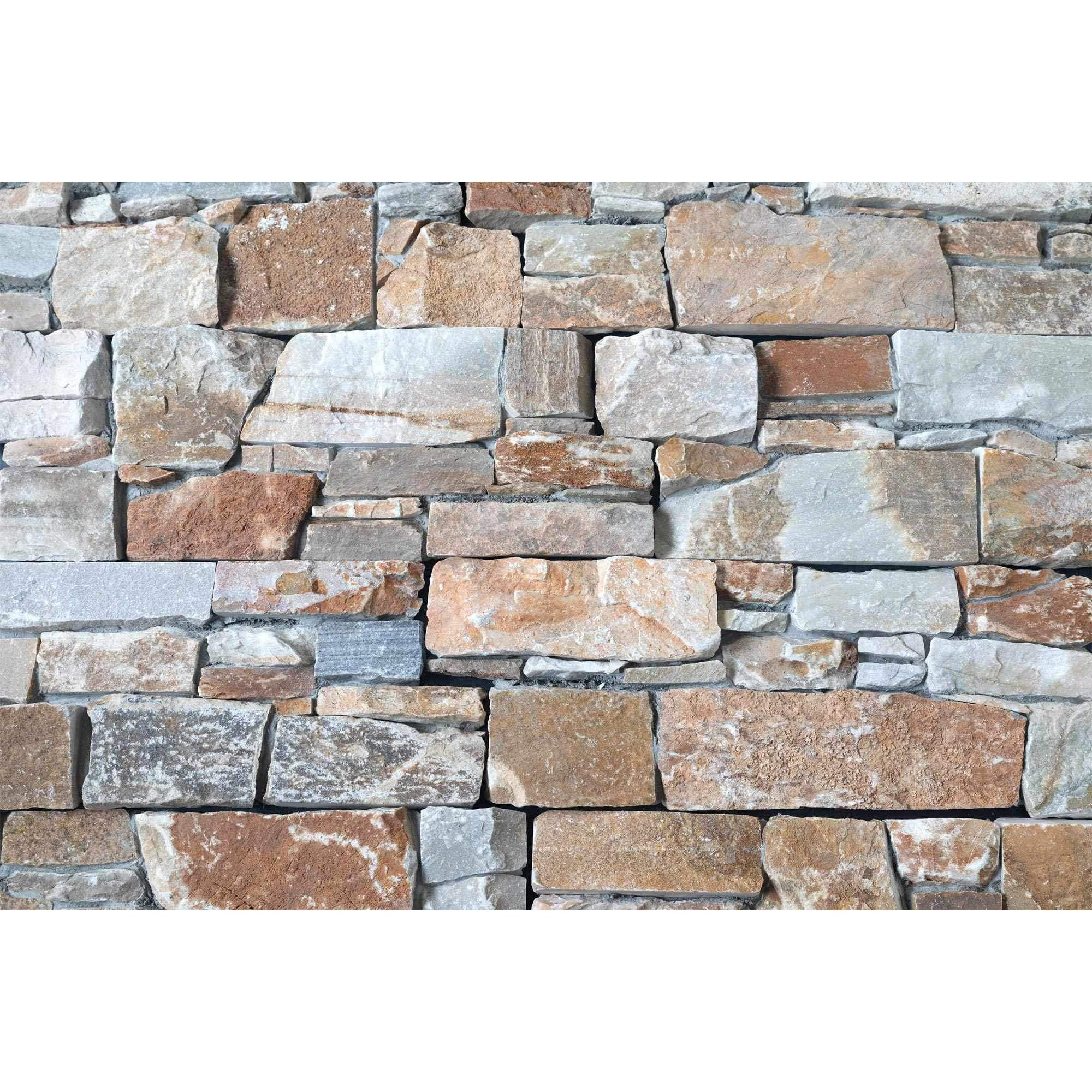 Natural Ledgestone Feature Wall Cladding Panels - Urban Brown