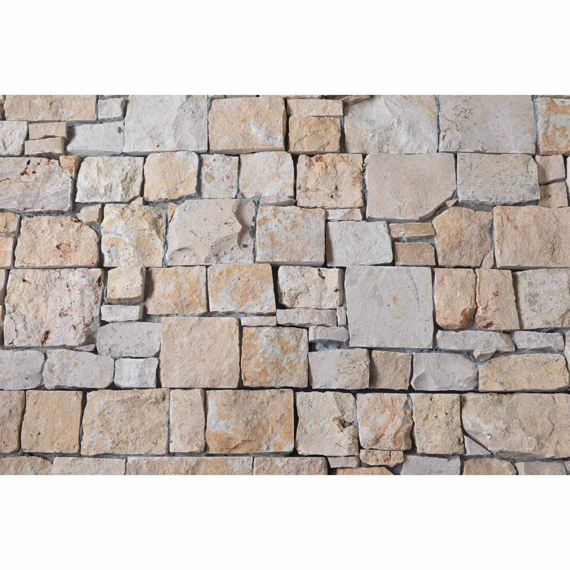 Natural Ledgestone Feature Wall Cladding Panels - Yellow Travertine-Wall Cladding-Stone and Rock