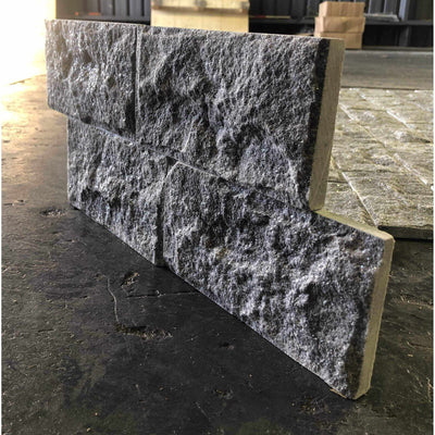 Natural Stacked Stone Feature Wall Cladding Panels - Black Mushroom-Wall Cladding-Stone and Rock