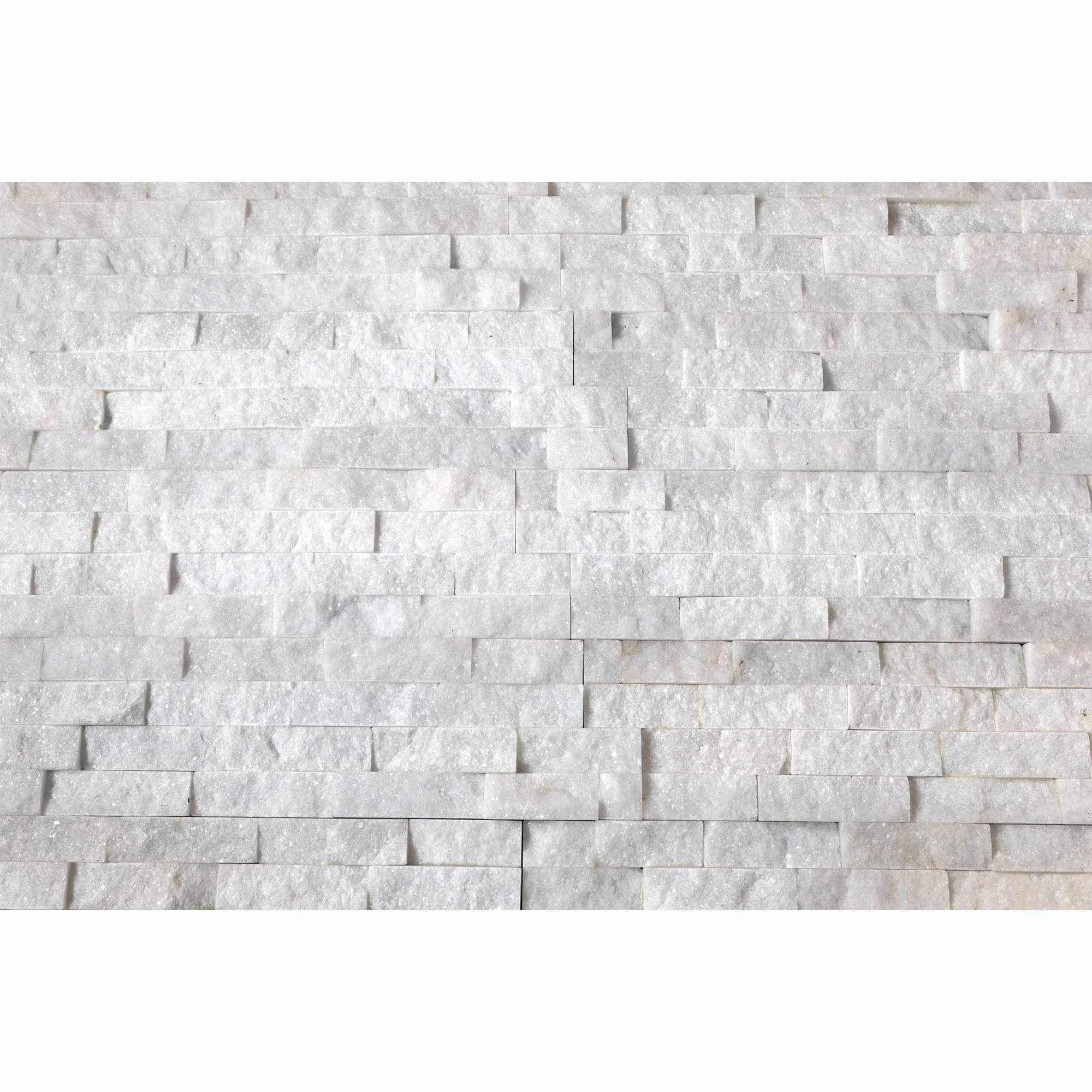 Natural Stacked Stone Feature Wall Cladding Panels - Crystal White-Wall Cladding-Stone and Rock