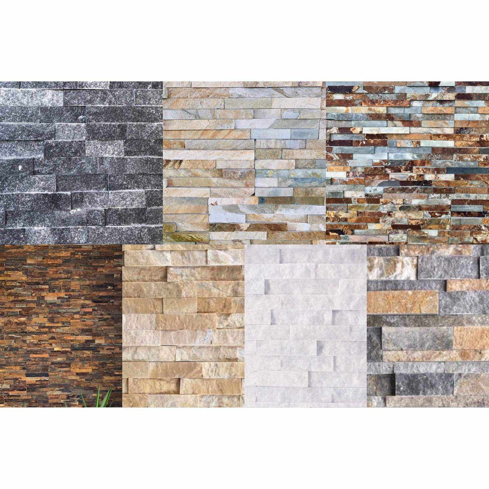Natural Stacked Stone Feature Wall Cladding Panels Tagged Grey Stone And Rock