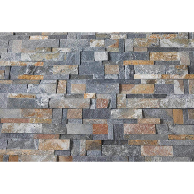 Natural Stacked Stone Feature Wall Cladding Panels - Rusty Black Montage-Wall Cladding-Stone and Rock
