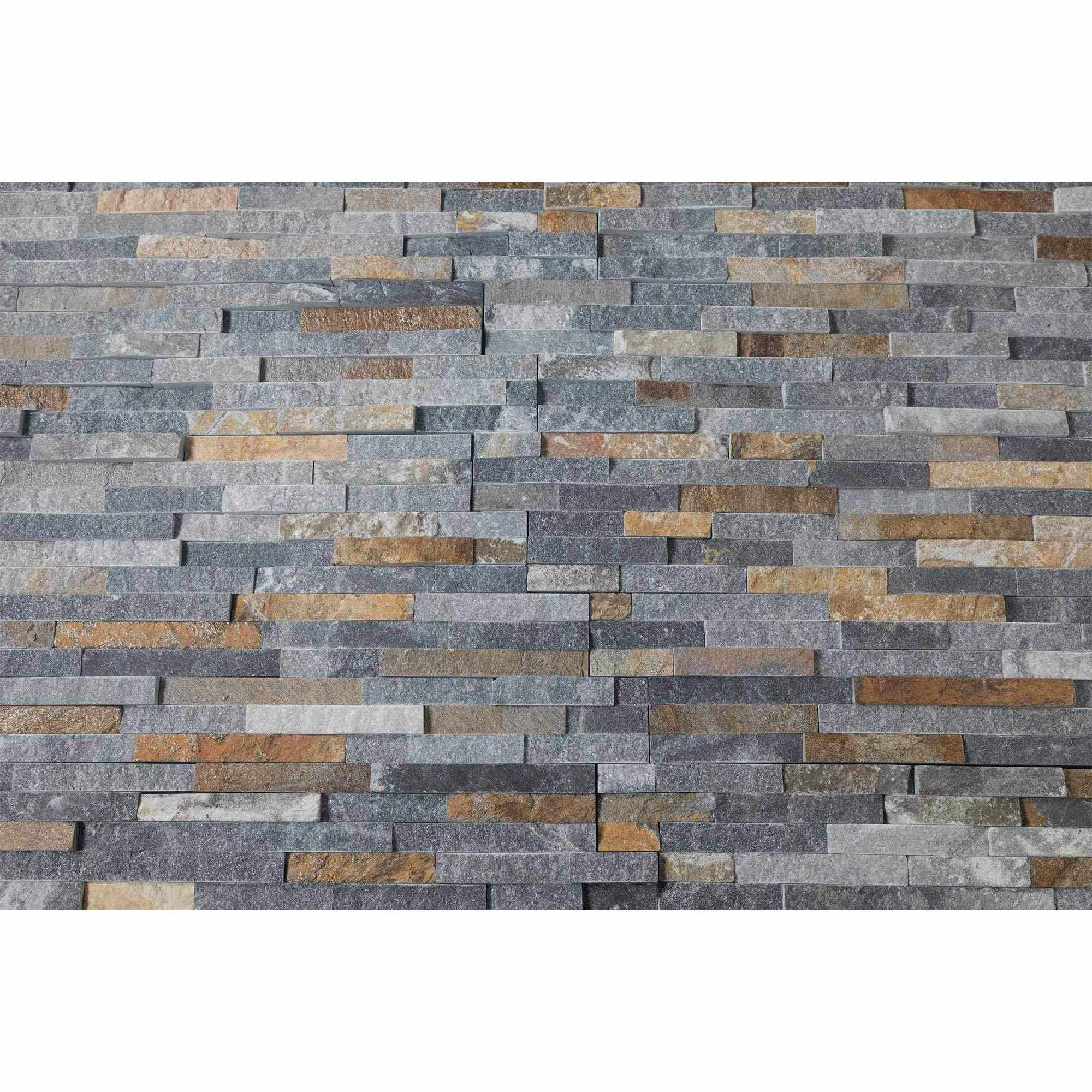 Natural Stacked Stone Feature Wall Cladding Panels - Rusty Black Stackstone-Wall Cladding-Stone and Rock