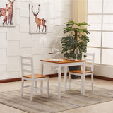 Solid Pine Wood Dining Table & 2 Chairs