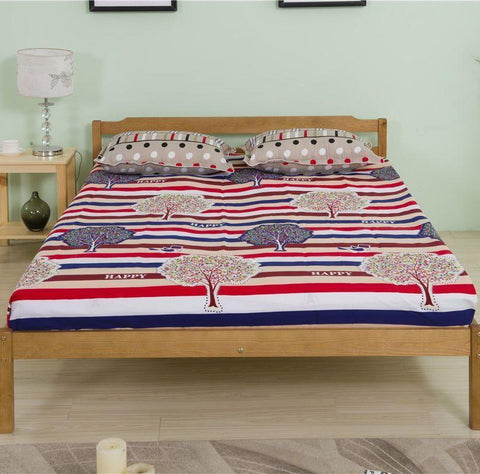 Solid Pine Wood Double Bed Frame