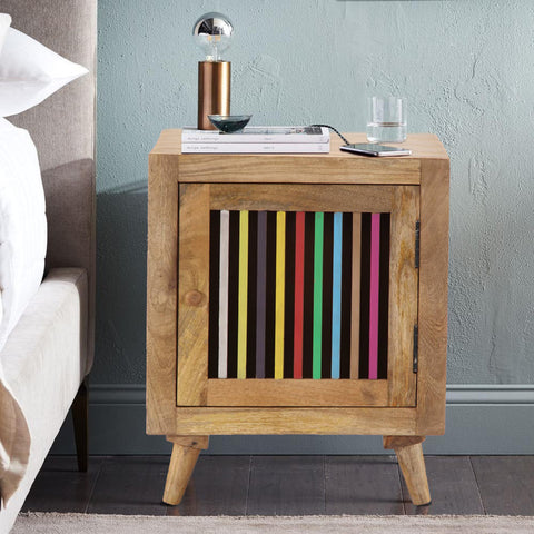 Multi Colour Bedside Table