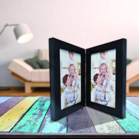 "Vertical Double Photo Frame - 4"" x 6"""
