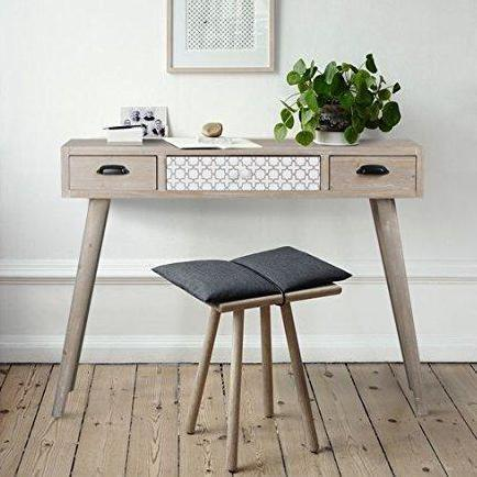 White Wash Console Table/Desk